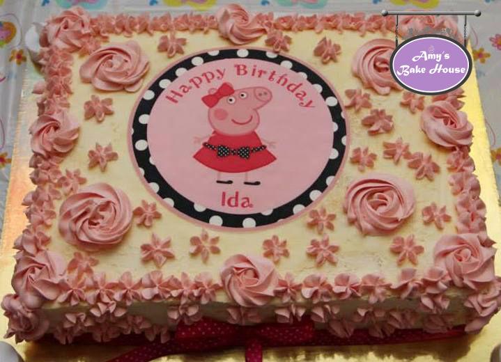 Peppa Pig Birthday Cake Amys Bake House