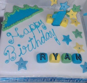 Ryan 1st Birthday Cake