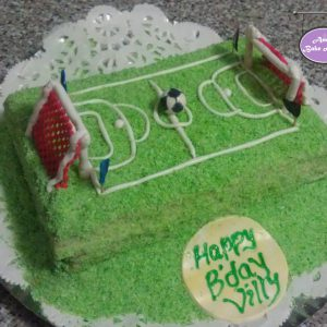 Football Themed Birthday Cake