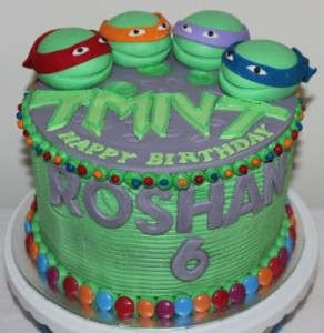 TMNT Themed Birthday Cake