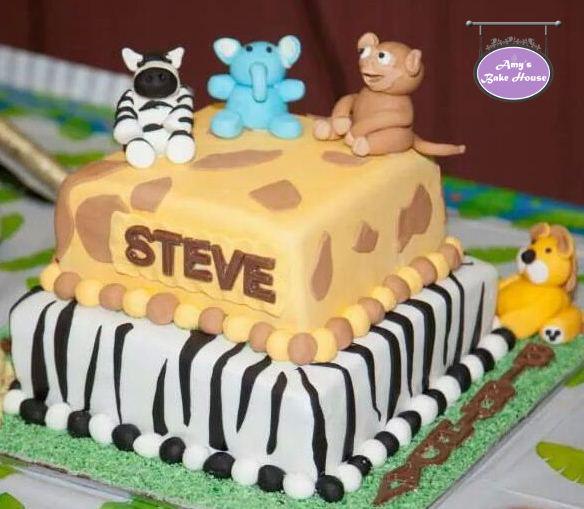 Jungle Theme Birthday Cake Amy S Bake House
