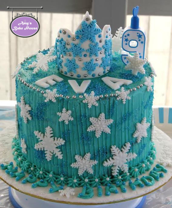Frozen Themed Birthday Cake Amys Bake House