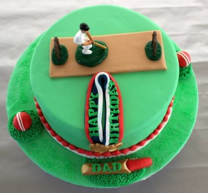 Cricket Themed Birthday Cake