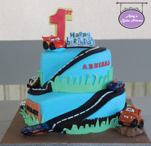 Disney & Hot Wheels Car Themed Birthday Cake