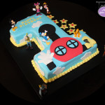 No 1 Disney Themed Birthday Cake