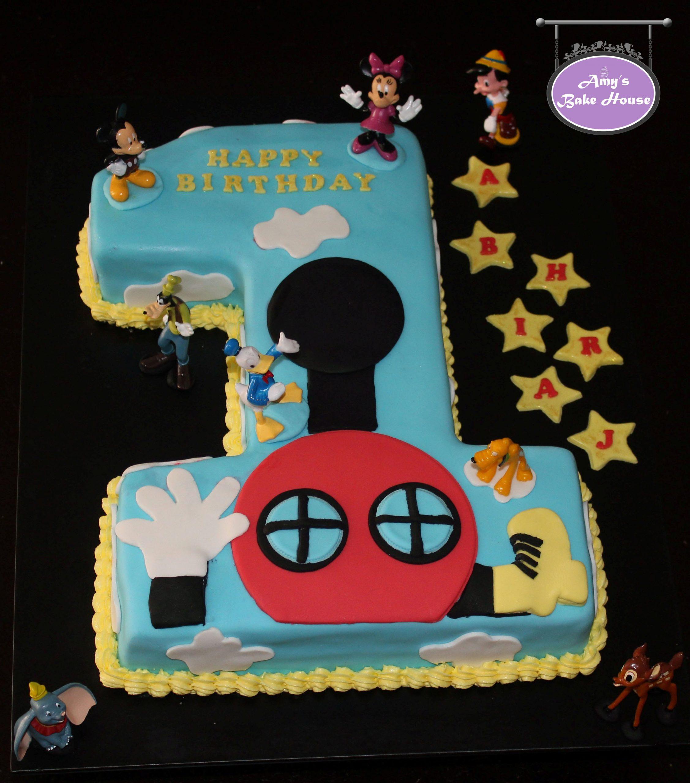 No 1 Disney Themed Birthday Cake