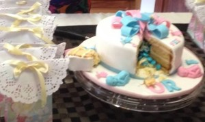 Baby Shower Pinata Cake