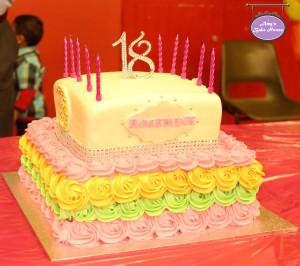 Bollywood 18th Birthday Cake