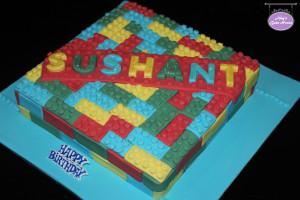 Green Velvet Lego Birthday Cake