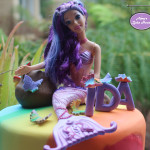 Rainbow Mermaid Birthday Cake