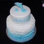 Ombre Ruffled Birthday Cake