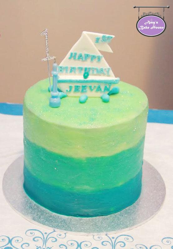 Blue Velvet Ombre Birthday Cake Amy S Bake House