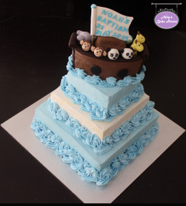 Noah's Ark Themed Baptism Cake