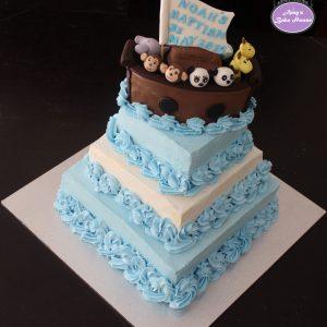 Noah's Ark Themed Baptism Cake