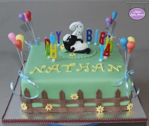Shaun The Sheep Birthday Cake