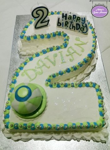 No 2 Themed Birthday Cake