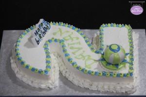 No 2 Themed Birthday Cake