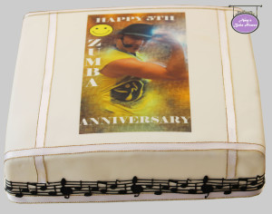 Zumba Anniversary Cake