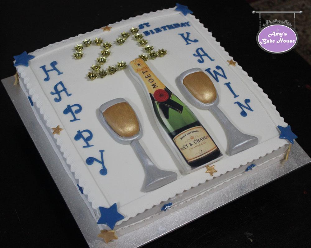 Champagne 21st Birthday Cake Amy S Bake House