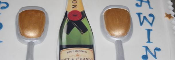Champagne 21st Birthday Cake