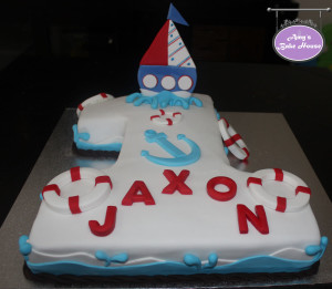 No 1 Nautical Birthday Cake