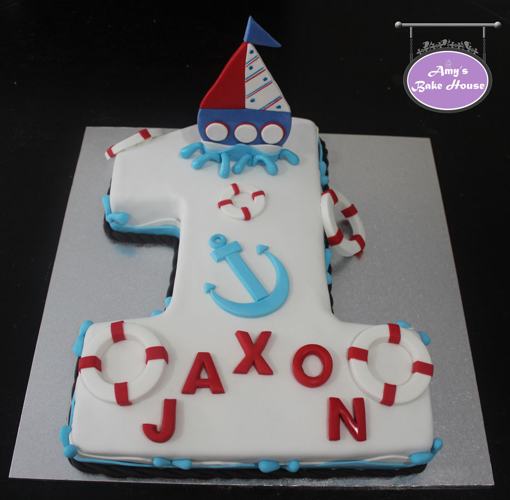 No 1 Nautical Birthday Cake Amys Bake House