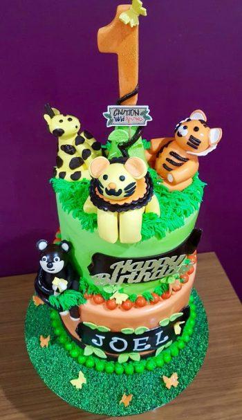 Jungle Themed Birthday Cake